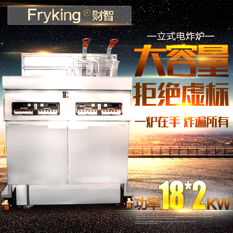 Large commercial electric fryer single cylinder with a filter car oil fried chicken fryer fries burger special thick