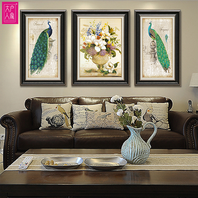[Large families] big box painted family american country european pastoral decorative painting the living room sofa wall painting