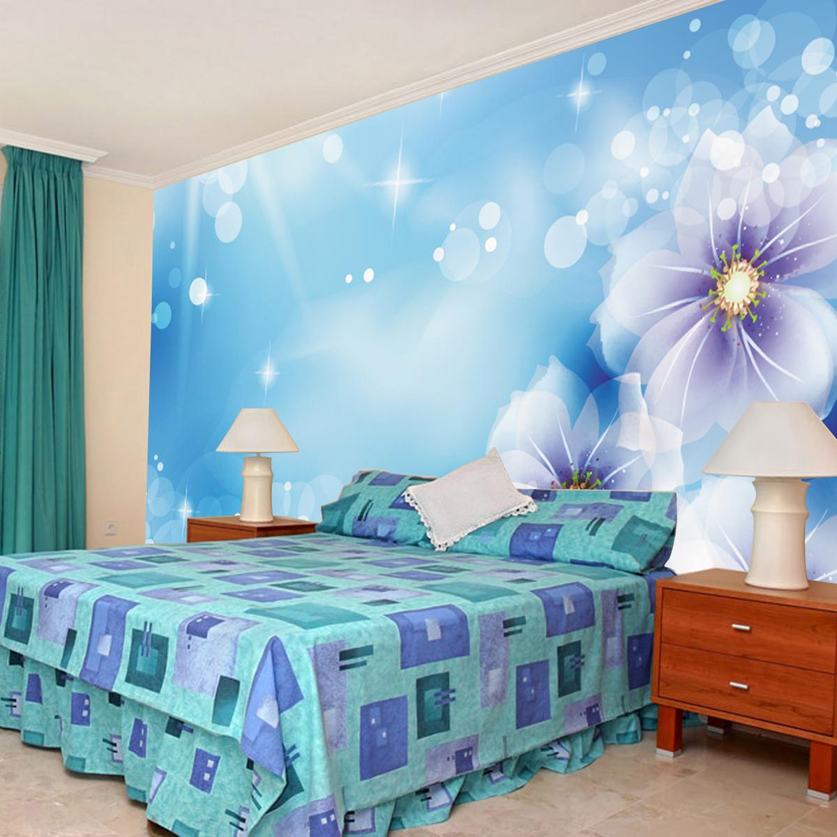 Large murals tv background wallpaper murals wallpaper murals wallpaper warm flower fashion home wall painting