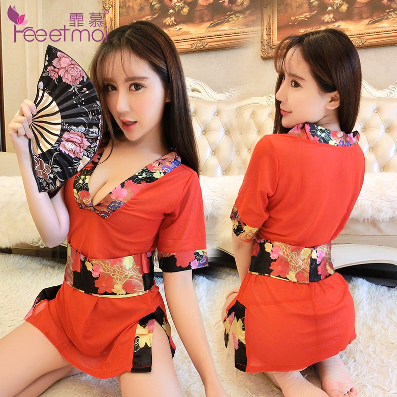 Get Quotations · Large size women s transparent sexy sleepwear kimono suit  temptation sexy lingerie classical japanese style cardigan lingerie eddaa52f5