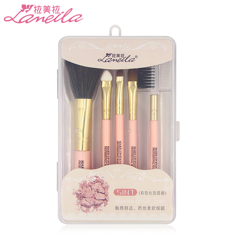 Latin american makeup kit full set of beginner brush set eye shadow brush blush brush tool brush makeup brush loose paint brush 5