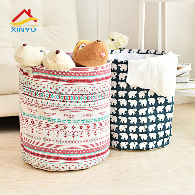 Get Quotations · Laundry basket toy storage barrels cotton oversized waterproof washable foldable laundry basket laundry basket clothes basket