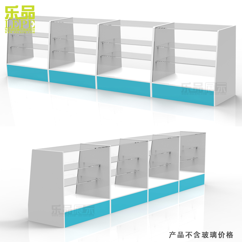 Le drugstore glass cabinet medicine cabinet medicine cabinet/pharmacy counter/medicine shelf display cabinet/display cabinet wood