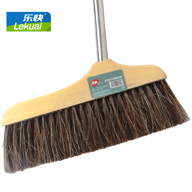 Le fast big broom broom bristle round brush stainless steel handle with wooden floors soft bristle broom bristles remove dust shipping