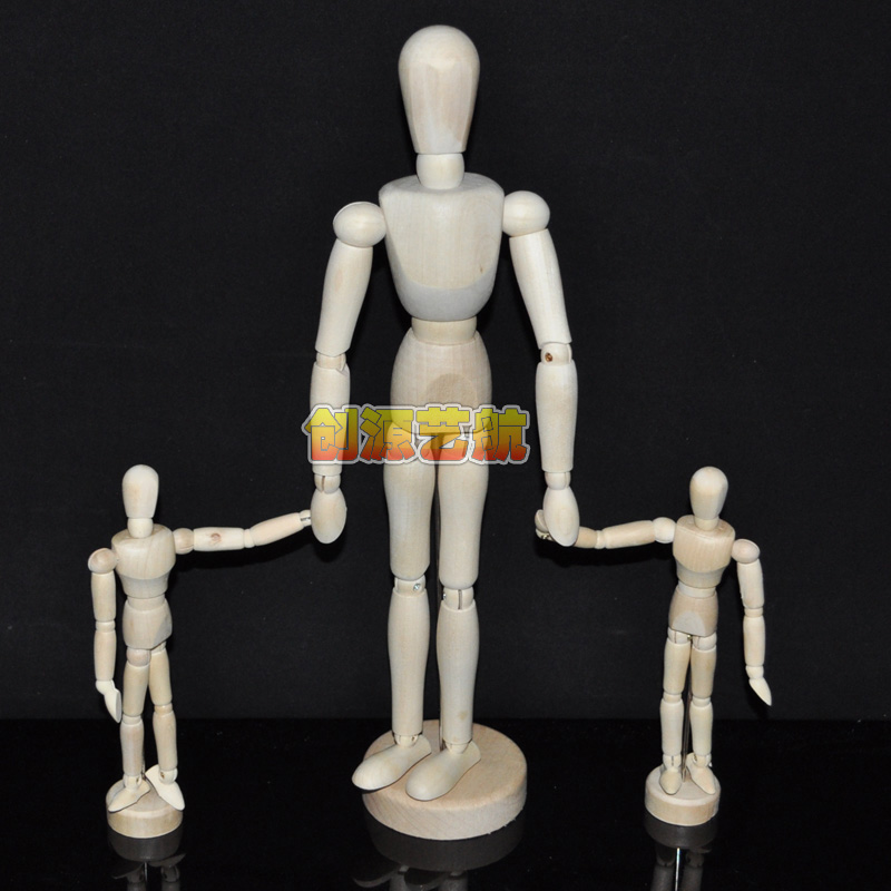 Le gall sketch still life muren wooden model joint model can be moving muren 5.5 inch 14 cm
