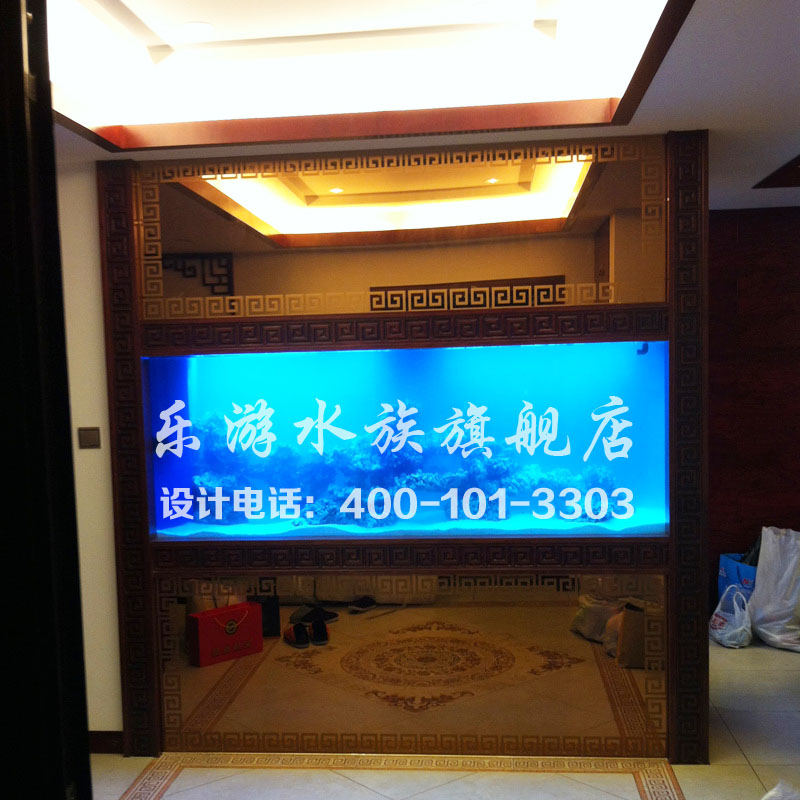 Le tour professional custom villa clubhouse wood edging ultrawhite seawater aquarium reef tank fish tank design