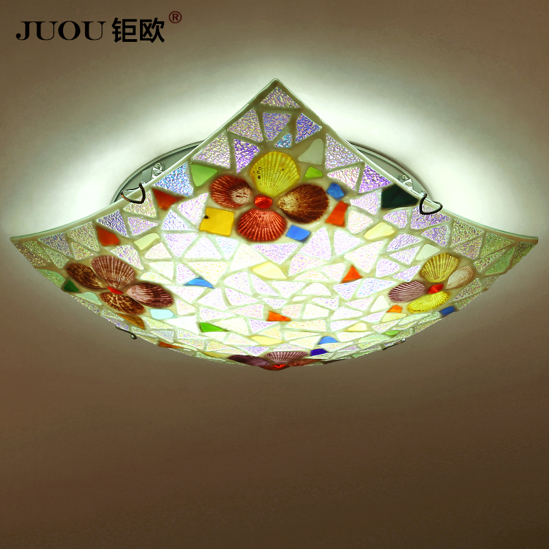 Led ceiling lamps bedroom mediterranean garden square creative art restaurant lights small living room balcony aisle lights