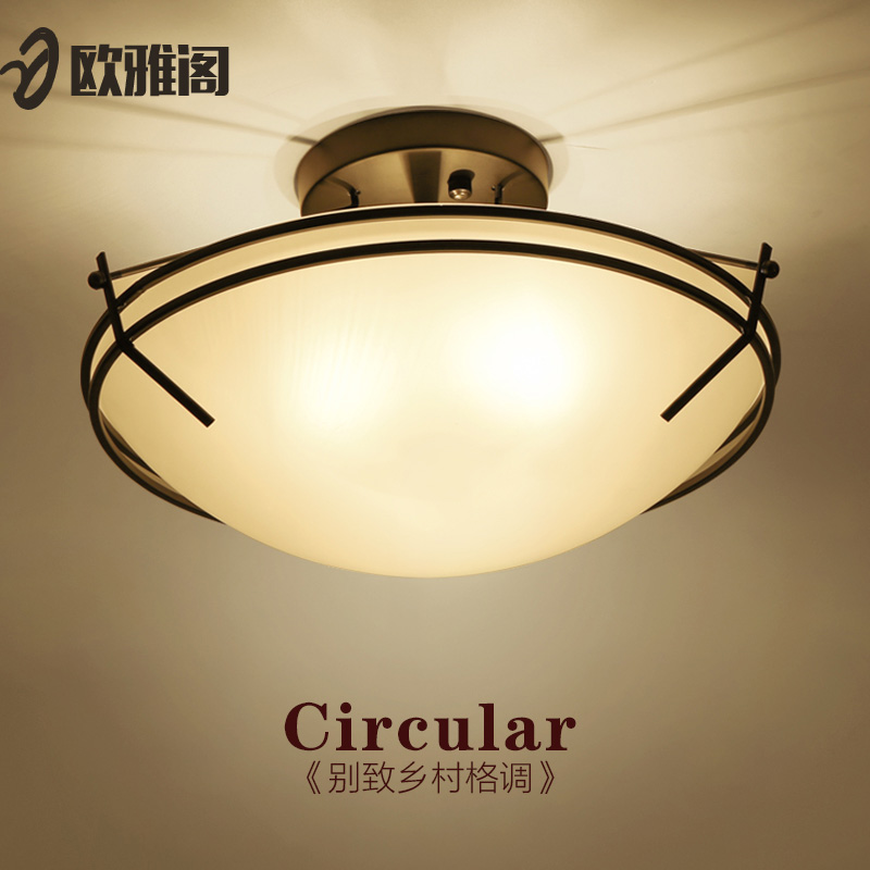 Led lamp warm bedroom kitchen ceiling nordic american restaurant creative personality living room ceiling lights round