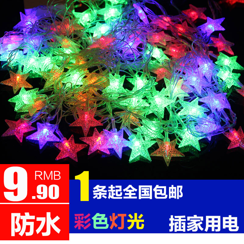 Led lights flashing christmas lights festive wedding decorative lights holiday string lights starry string lights neon lights