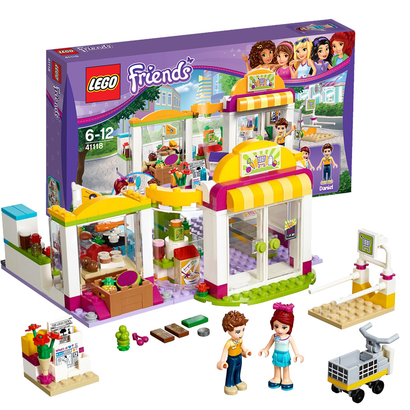 Lego lego puzzle fight inserted lego toy building blocks girl friend series 41118 heart lake city market