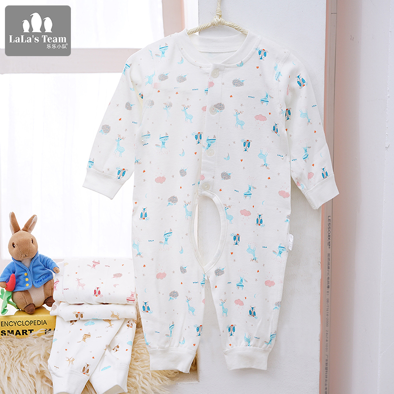 Lele team fall and winter clothes newborn infant male and female baby cotton coveralls climbing clothes romper infants and young children