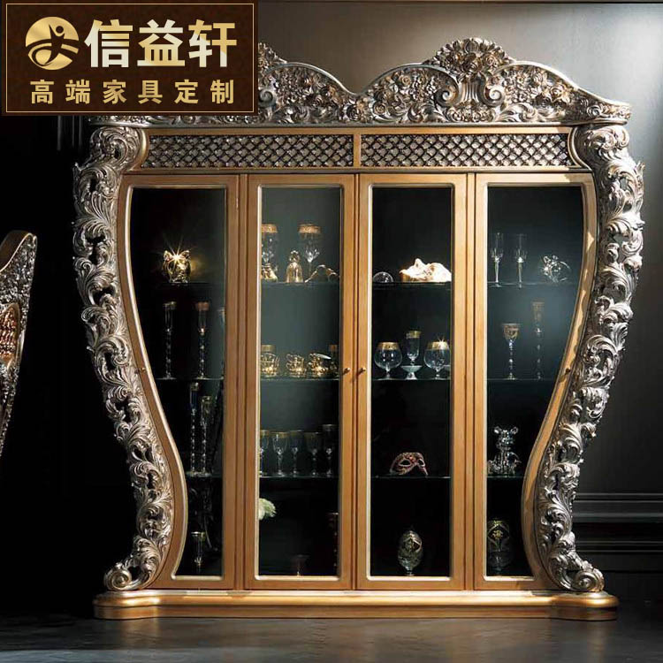 Letter benefits xuan european luxury wood restaurant wine wine french wine don't villa palace wood gold foil
