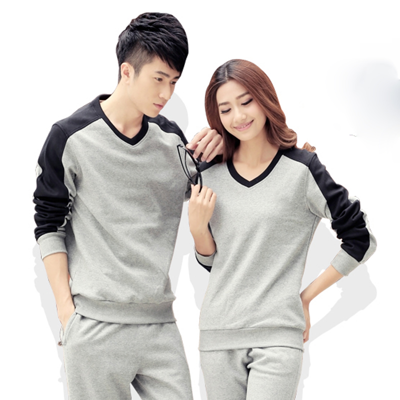 Letter dated 2016 from the letters sports sweater spring and autumn winter long sleeve v-neck shirt for men and women casual shirt xl