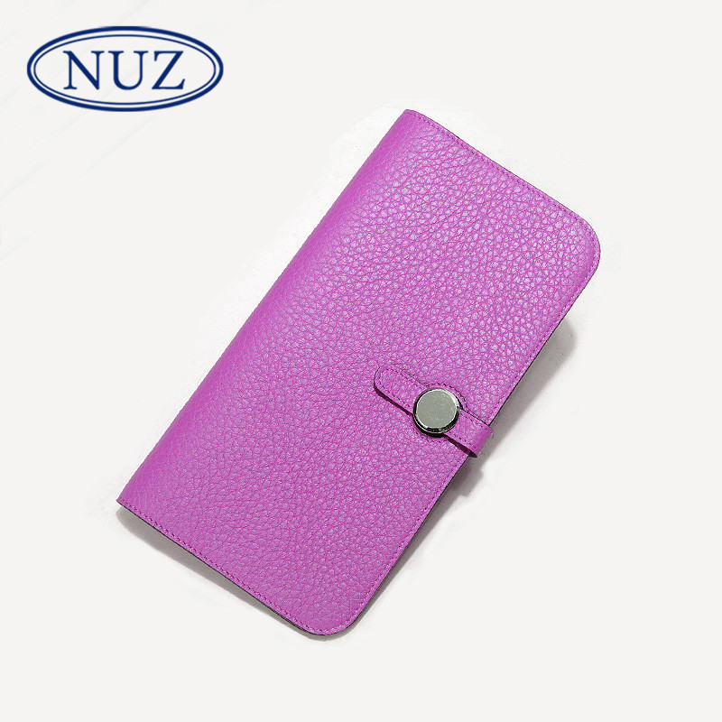 Letter dated 2016 from the nuz ms. summer new european style fashion trend wild solid color long wallet wallet 9916
