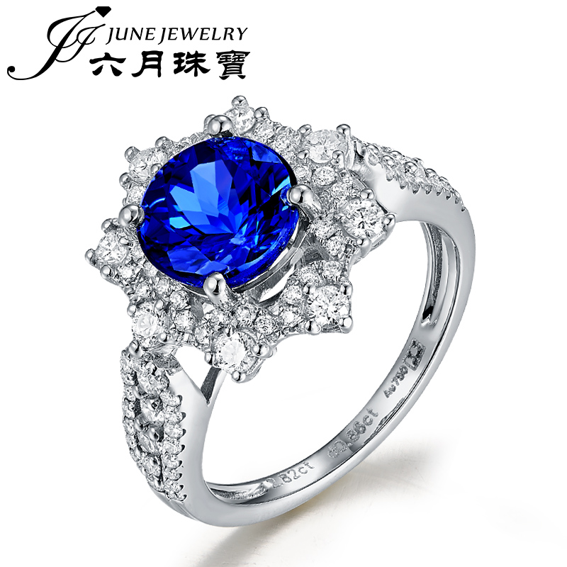 Letter dated June from the natural tanzanite jewelry ring k gold with diamond fashion luxury models of color treasure jewelry custom jewelry
