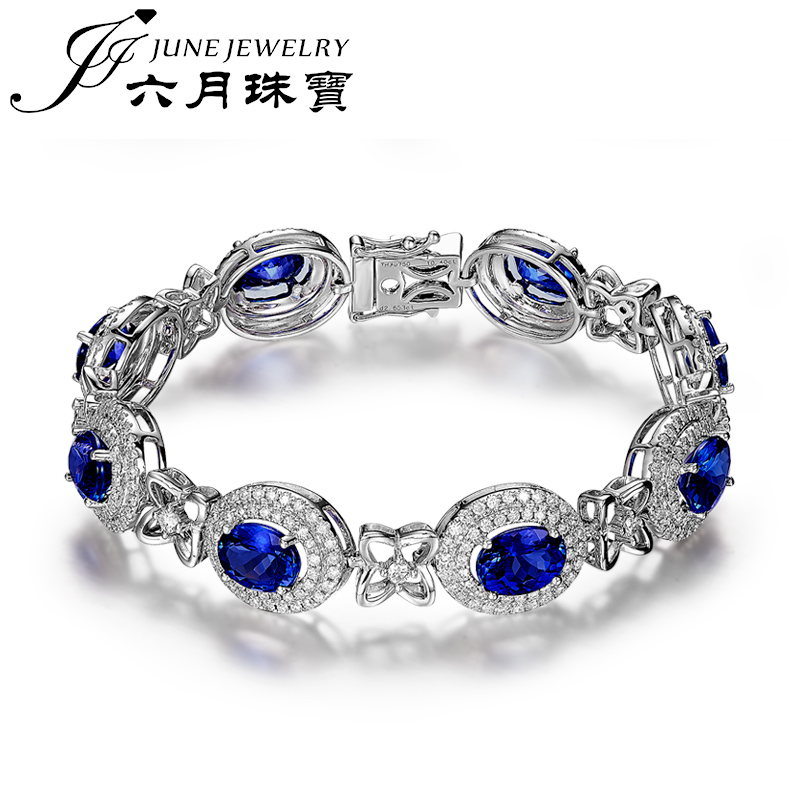 Letter dated June from the oval tanzanite bracelet jewelry natural 5a selection of luxury hand chain multicolored luoshi custom jewelry