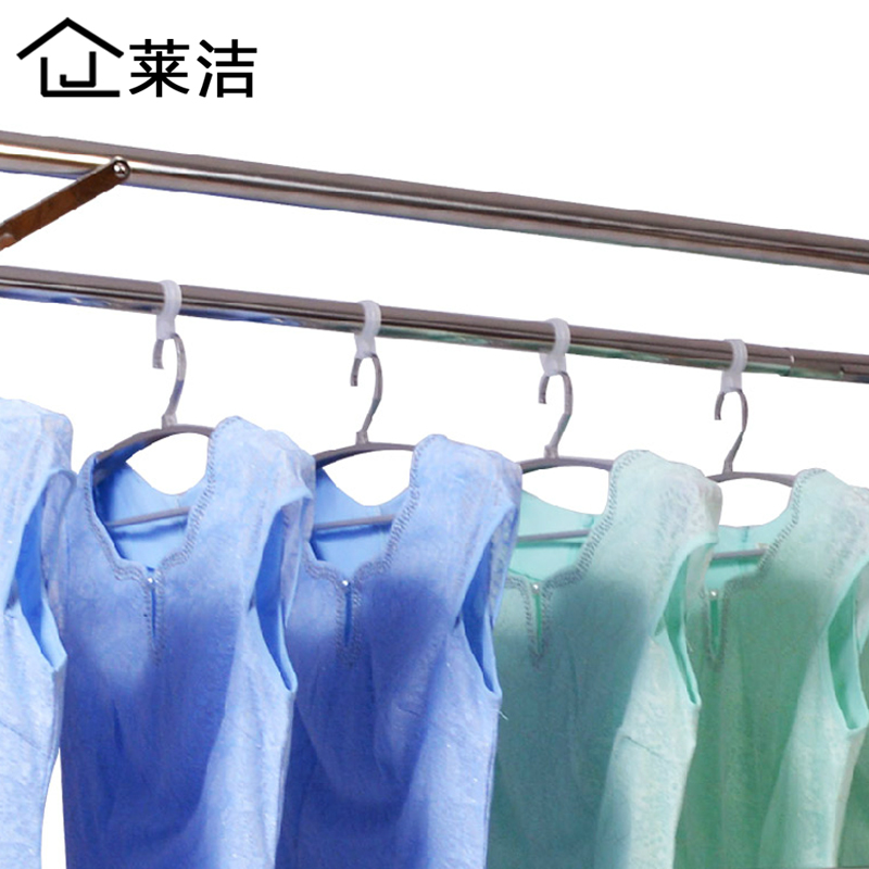 Levin clean wind hook slip hook windproof slip clothesline pole fixed plastic hanger hanger hook creative seamless 20