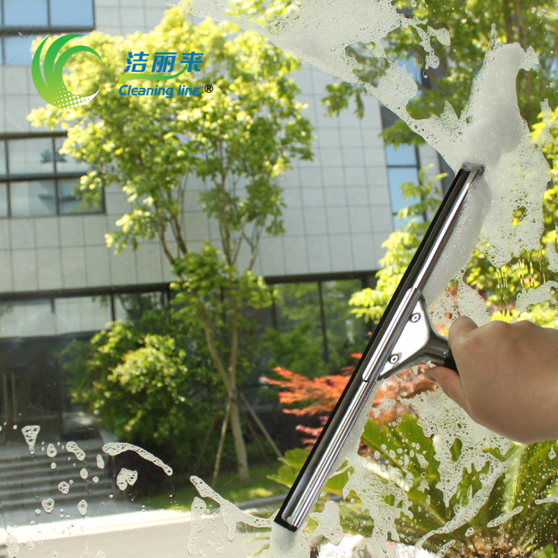 Li jie to window cleaning stainless steel glass blowing wiper wiper cabo mirror restaurant clean Scratch free shipping