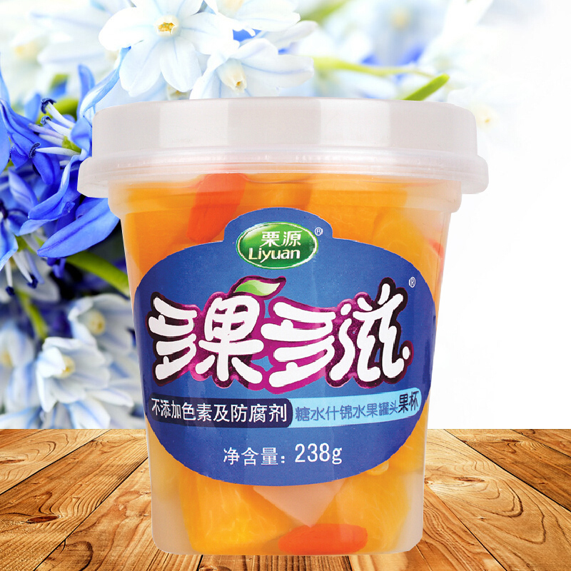 Li source fruit cup canned fruit and more fruit and more mayonnaise 238g hebei specialty snack snack fruit cup assorted canned food