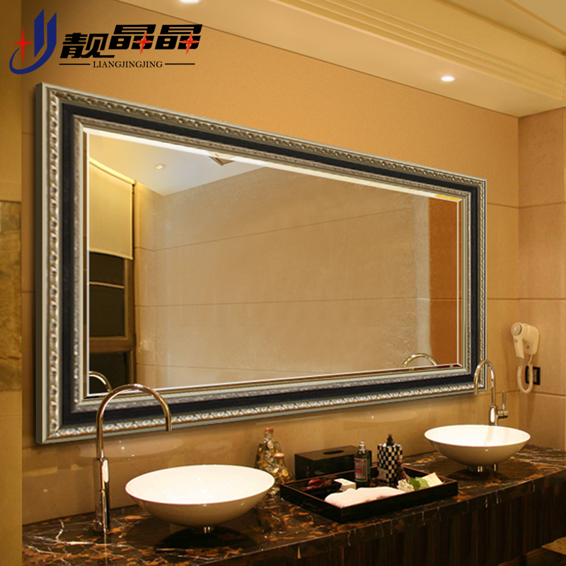 Liang jingjing bathroom mirror european bathroom wall mirror bathroom mirror bathroom mirror frame bathroom mirror