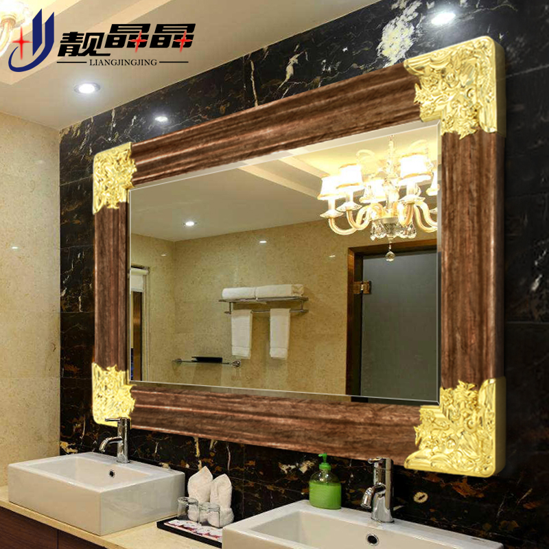 Liang jingjing european decorative wall hung bathroom mirror bathroom mirror bathroom mirror bathroom vanity makeup mirror