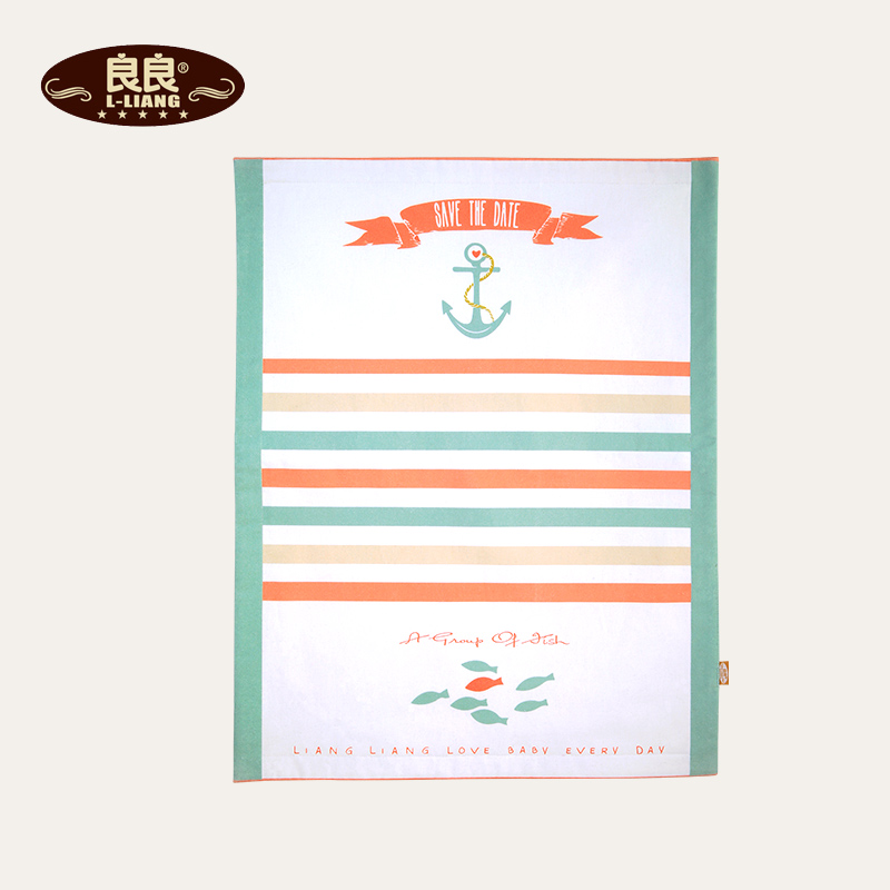Liang liang changing mat colorful striped cotton infant changing mat breathable waterproof washable changing mat trumpet