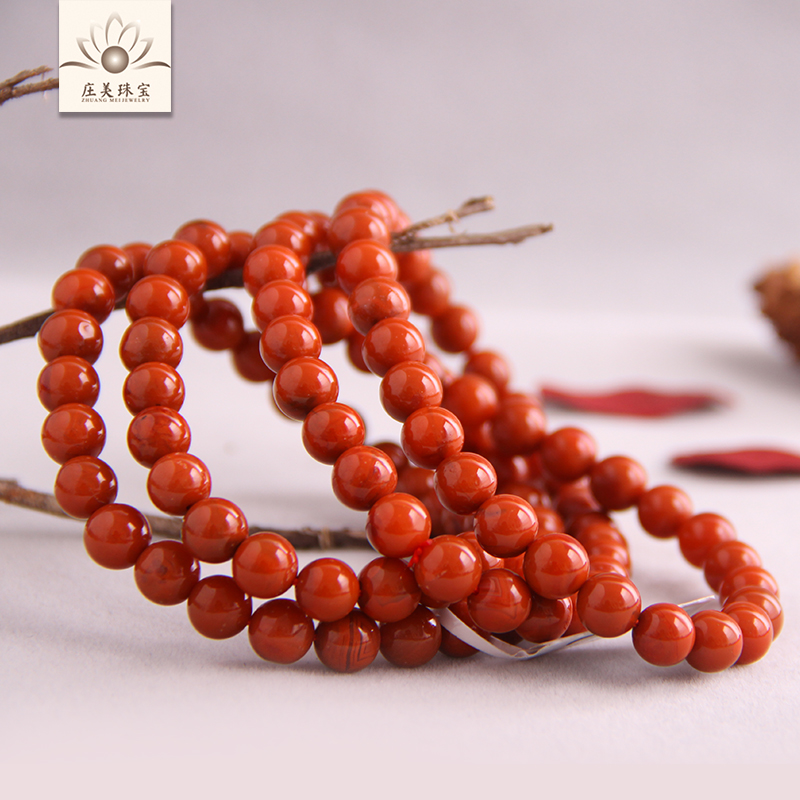 Liangshan south onyx bracelet multiturn sichuan nine persimmon red flame red 108 prayer beads bracelets for men and womené¢