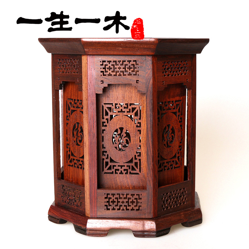 Life a wooden double hollow carved rosewood pen storage office supplies mahogany crafts business