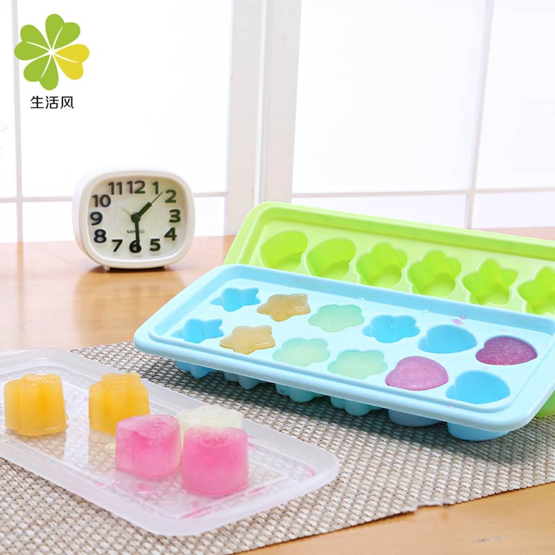 Life style plastic ice box creative ice lattice ice mold with lid ice nonvenomous snow cake mold refrigerator ice Box