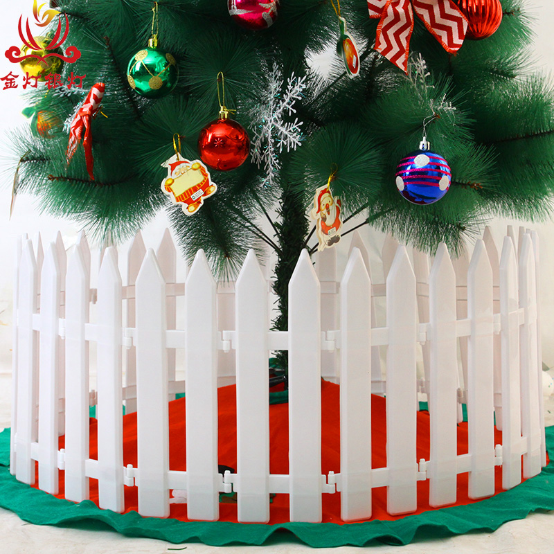 light silver lamp new decorative fence fence fence white plastic fence fence fence christmas tree christmas