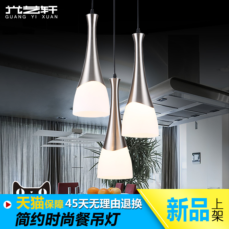 Light yixuan three led pendant modern minimalist restaurant chandelier lamp living room lamp creative personality right lamp