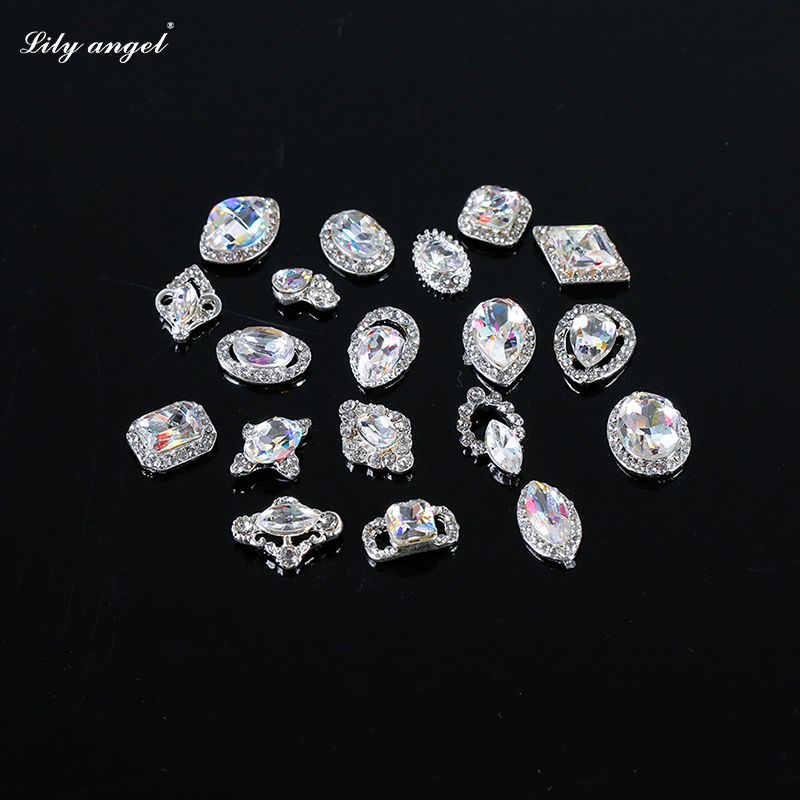 Lily angel bride phototherapy a nail transfer beads drilling metal jewelry new czech drilling 619-642 #