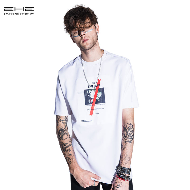 [Limited edition] ehe x crow white silhouette t-shirt gum paste 66103163019