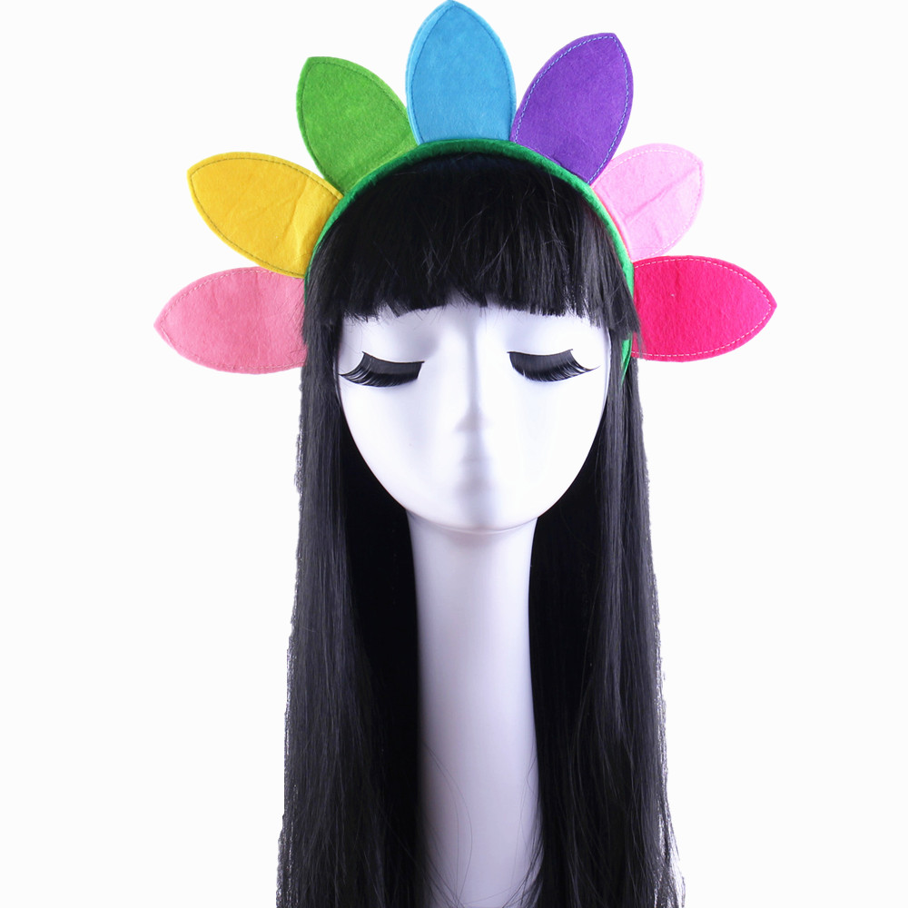 Lin fang g children sunflowers headband headdress hair bands performing dance party halloween christmas party