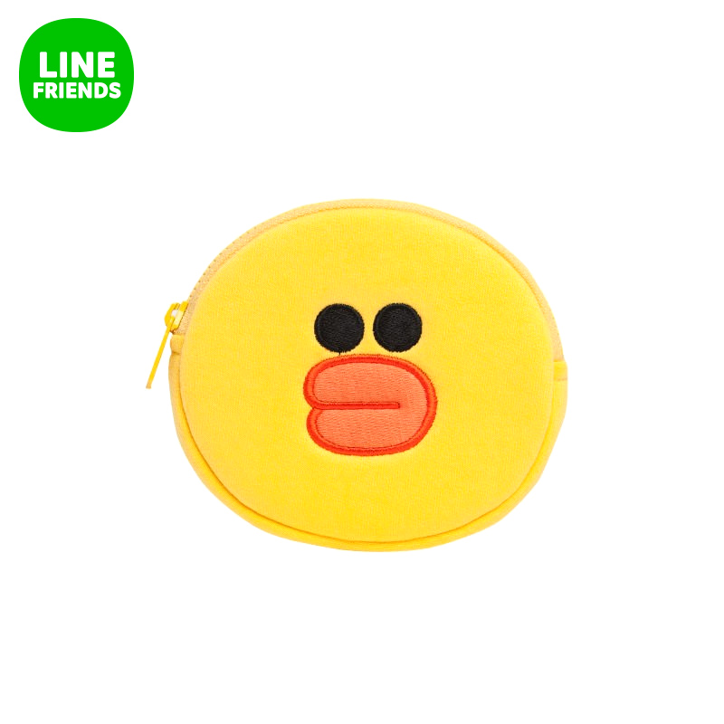 Line friends sally (face) 12.5 cm stay cute adorable cartoon purse