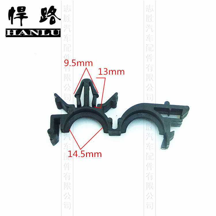 Line pipe line pipe tubing clips snap buckle pipe clamp positioning tie straps with plug