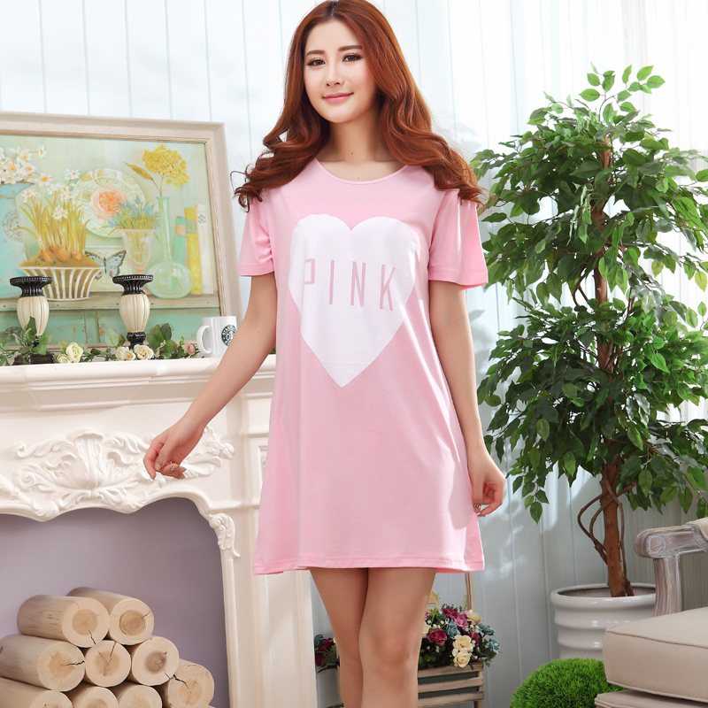 44d2efb04011 Get Quotations · Lingerie female summer cute korean girls short sleeve  skirt skirts big yards pyjamas modal girls pajamas