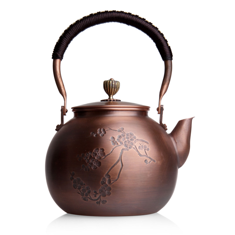 Lingyange japanese copper purple handmade copper kettle copper kettle copper kettle copper teapot boiled end of kung fu tea tea is recommended