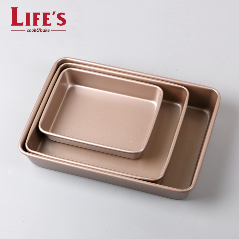 Liv silk nonstick oven household deep rectangular tray rectangular cake pan nonstick baking bread biscuit mold
