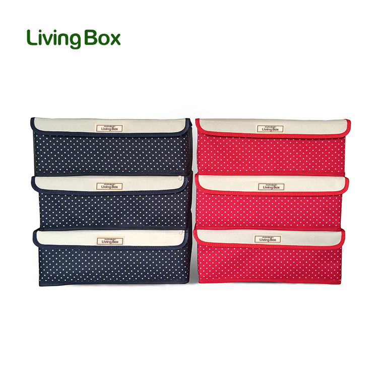 Livingbox increased thickening three sets of storage covered storage box bra underwear box storage box finishing cabernet box