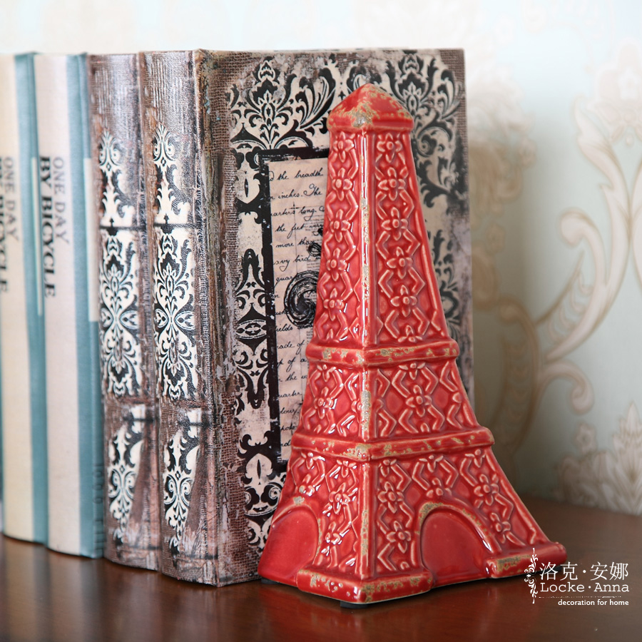 Locke anna french american retro ceramic tower book by book stalls books credenza desktop ornaments creative