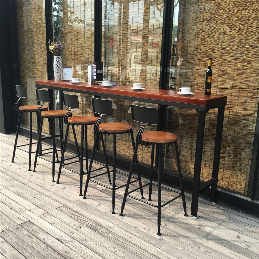Get Quotations Loft American Bar Cafe Tables And Chairs Wood Table Tall Dining