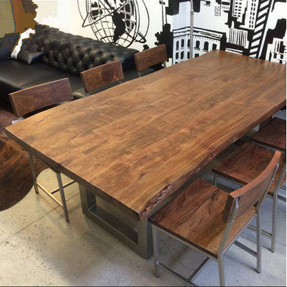 Loft american country wrought iron wood dining tables and chairs desk chairs industrial style restaurant bar cafe tables and chairs retro