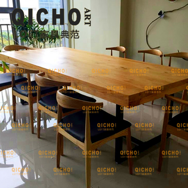 Loft industrial wind ordered american vintage wood dining table desk wood table cafe bar restaurant table