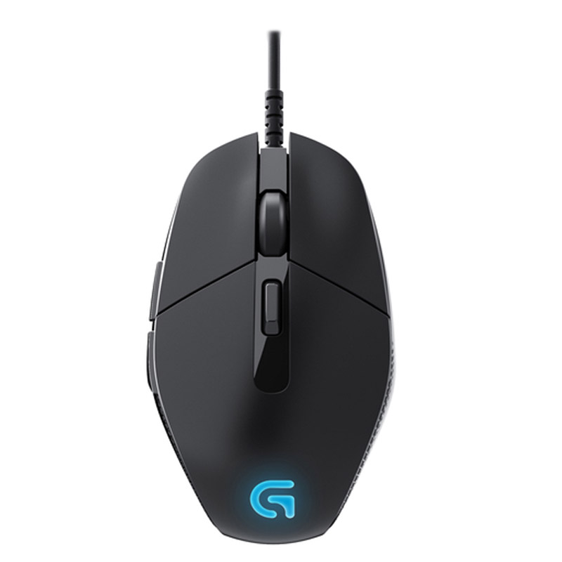 Logitech/logitech g302 wired gaming mouse usb computer athletics multikey programmable led light breathing