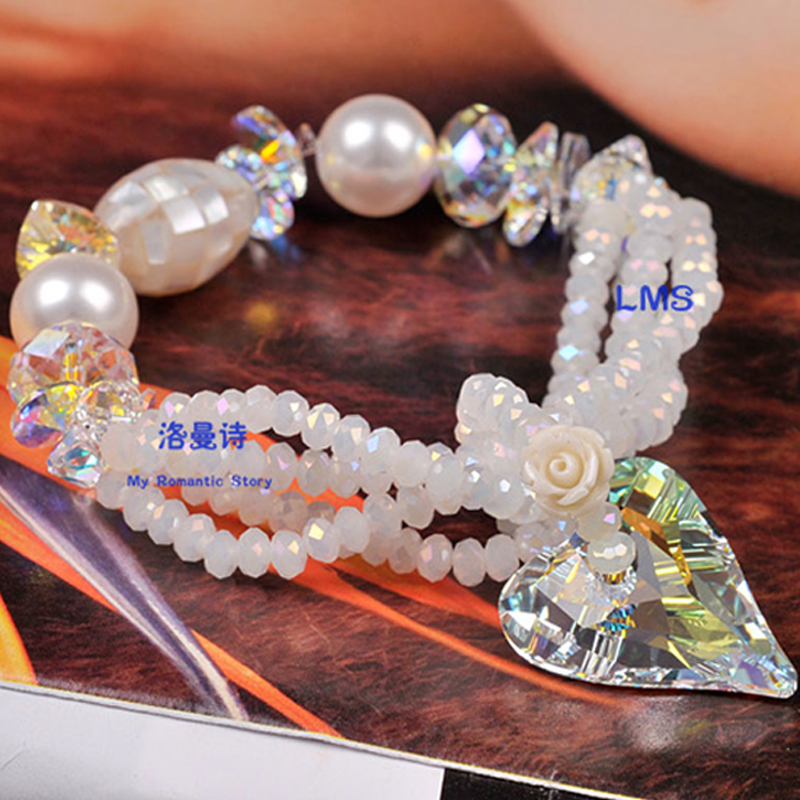 Lohman poetry luxury fashion crystal multilayer bracelet female korean version of south korea's first hand jewelry birthday gift valentine's day