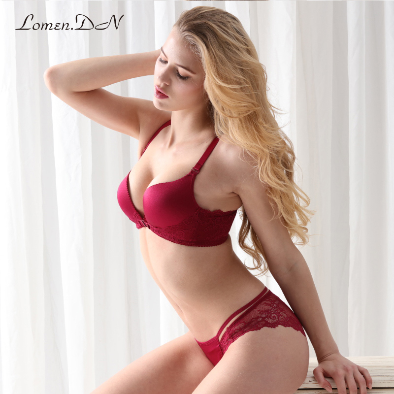 Lomen. the dxi1200 ms. no rims gather comfortable adjustable underwear sexy lace front buckle bra bra
