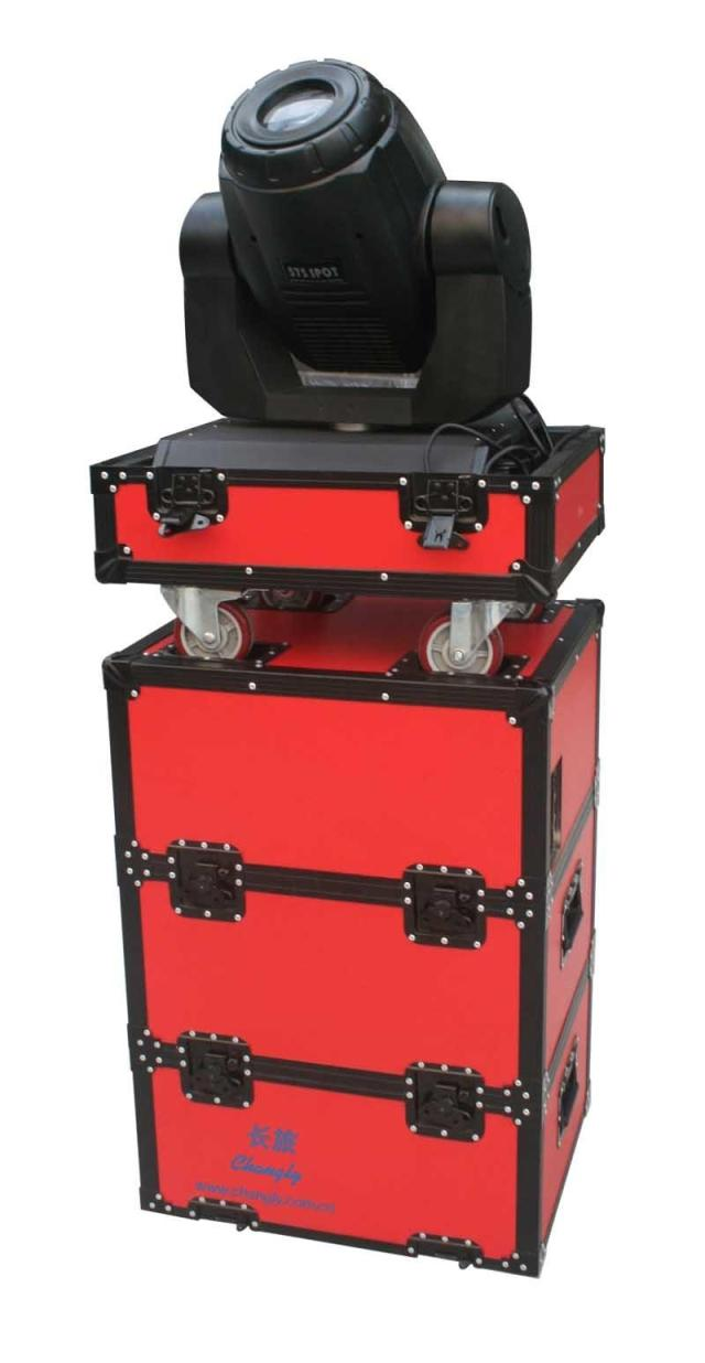 Long journey aluminum chassis smoke smoke machine and moving head light moving head light show props box lighting box