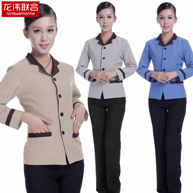 Long wei joint j322 pa cleaning clothes fall and winter clothes long sleeve cleaning service customer service work clothes work clothes long sleeve