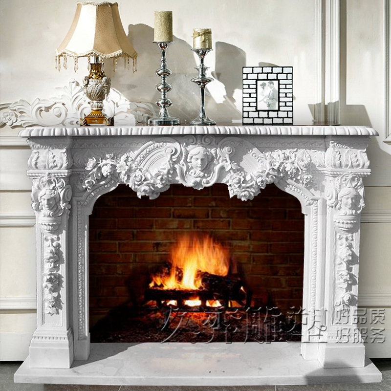 [Long yi sculpture] euclidian carved marble fireplace mantel fireplace stone fireplace mantel decoration cabinet hand carved